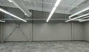office space with high ceilings within recently complete contemporary iDOT facility in Fairfield, IA