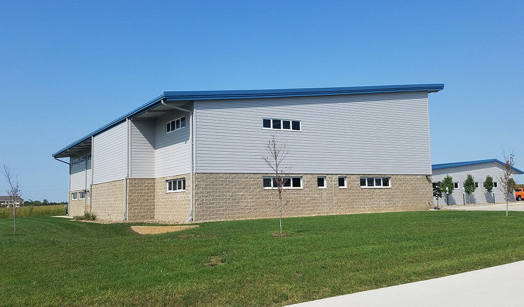 recently complete contemporary iDOT facility in Fairfield, IA
