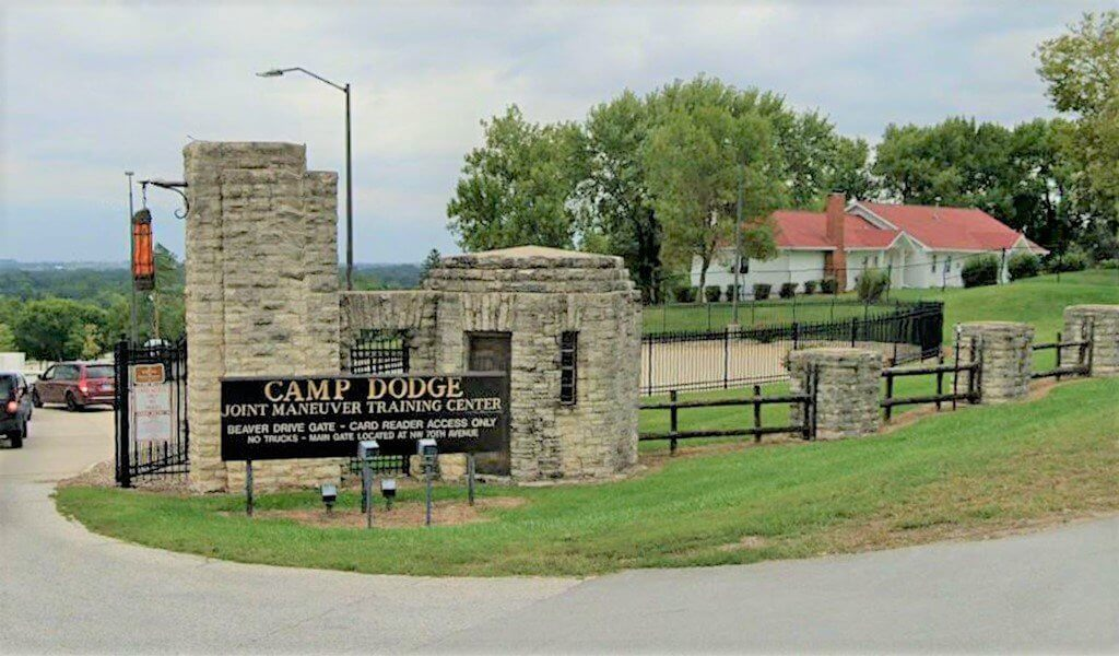 entrance to camp dodge